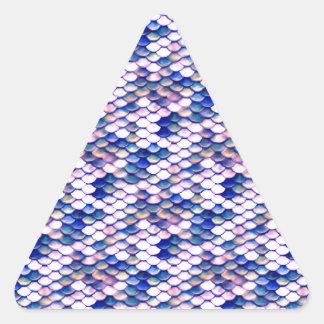 Adesivo Triangular Teste padrão cor-de-rosa do conto da sereia