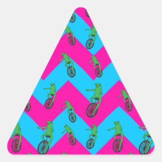 Adesivo Triangular Teste padrão de Dat Boi