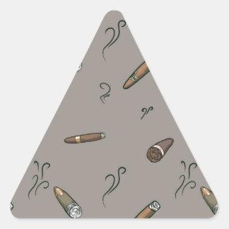 Adesivo Triangular Teste padrão do charuto