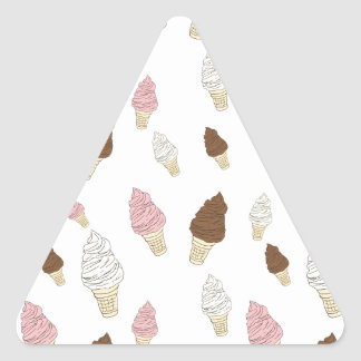 Adesivo Triangular Teste padrão do cone do sorvete