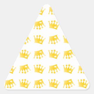 Adesivo Triangular Teste padrão dobro da coroa