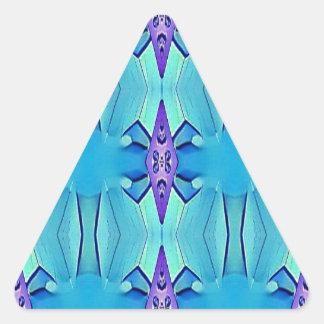 Adesivo Triangular Teste padrão feminino do Lilac azul Azure bonito