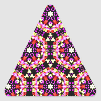 Adesivo Triangular Teste padrão floral minúsculo