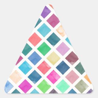 Adesivo Triangular Teste padrão geométrico da aguarela