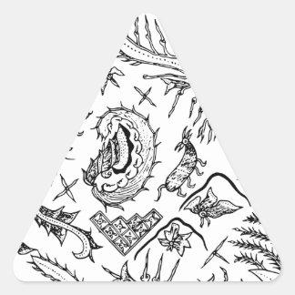 Adesivo Triangular Teste padrão indonésio de matéria têxtil dos