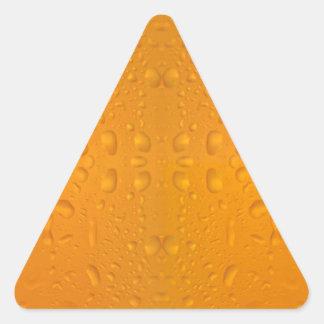Adesivo Triangular Teste padrão macro 8868 do vidro de cerveja