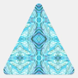Adesivo Triangular Teste padrão moderno de turquesa Funky