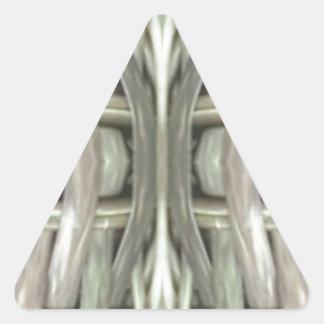 Adesivo Triangular Teste padrão tonificado cinzas do Weave de Nuetral