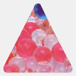 Adesivo Triangular textura das bolas da água