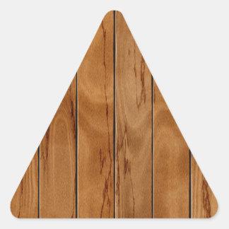 Adesivo Triangular Textura de madeira do assoalho do marrom escuro