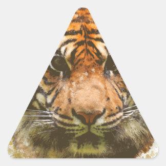 Adesivo Triangular Tigre