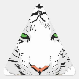 Adesivo Triangular Tigre feito sob encomenda personalizado da neve