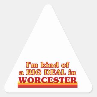 Adesivo Triangular Tipo de I´m de uma grande coisa em Worcester