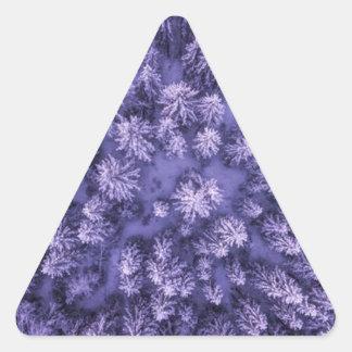 Adesivo Triangular Tiro completo do quadro das folhas