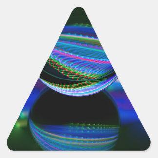 Adesivo Triangular Todas as cores na bola de cristal