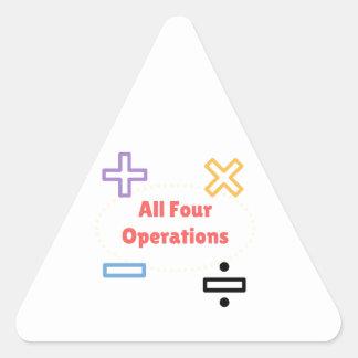 Adesivo Triangular Todas as quatro operações