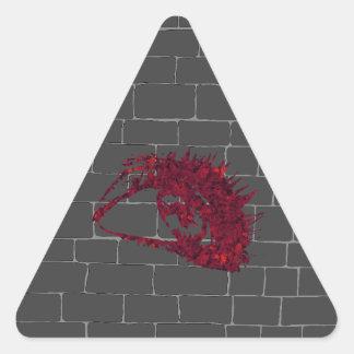 Adesivo Triangular Todo-Vendo o olho