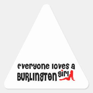 Adesivo Triangular Todos ama uma menina de Burlington