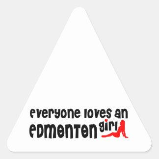 Adesivo Triangular Todos ama uma menina de Edmonton