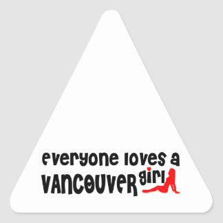 Adesivo Triangular Todos ama uma menina de Vancôver