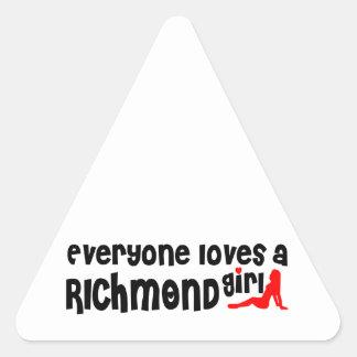 Adesivo Triangular Todos ama uma menina do monte de Richmond