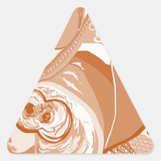 Adesivo Triangular Tons do Sepia do pitbull