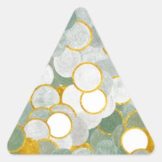 Adesivo Triangular Toque do ouro