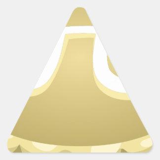 Adesivo Triangular torta feliz do dia do pi