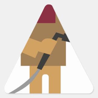 Adesivo Triangular Trabalhador do metal