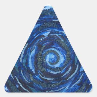 Adesivo Triangular trabalhos de arte #2 do índigo de Chakra do olho