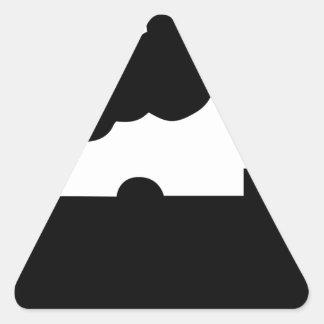 Adesivo Triangular Trem de estrada de ferro