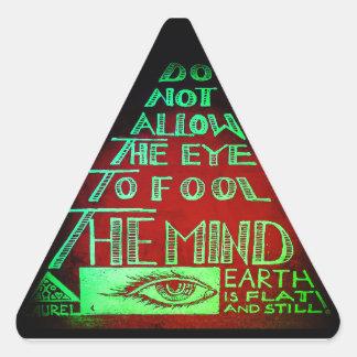 Adesivo Triangular Triângulo da mente