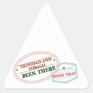 Adesivo Triangular Trinidad and Tobago feito lá isso