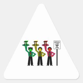 Adesivo Triangular Trio temperamental do sinal de trânsito ao lado do