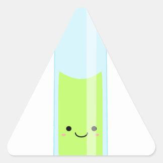 Adesivo Triangular Tubo de ensaio Geeky do kawaii