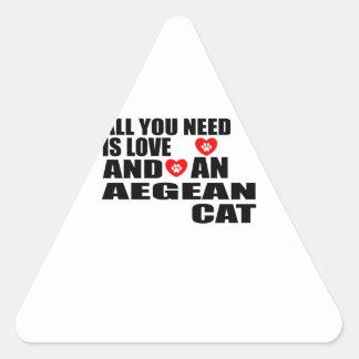ADESIVO TRIANGULAR TUDO QUE VOCÊ PRECISA É DESIGN EGEU DO CAT DO AMOR