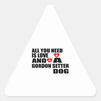 Adesivo Triangular Tudo você precisa o design dos cães do SETTER de