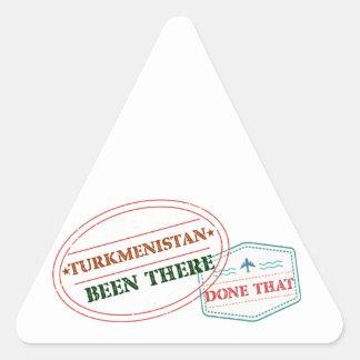 Adesivo Triangular Turkmenistan feito lá isso