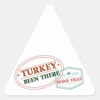 Adesivo Triangular Turquia feito lá isso