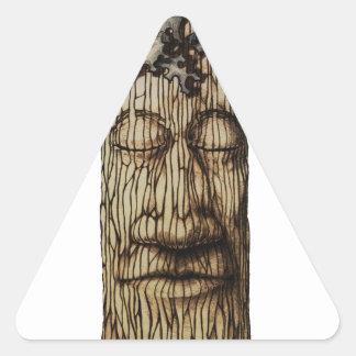 Adesivo Triangular Uma capa poderosa da árvore