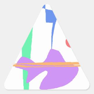 Adesivo Triangular Uma cegonha - você não está sozinho