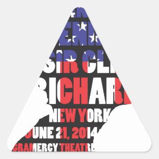 Adesivo Triangular Uma noite com senhor Cliff Richard