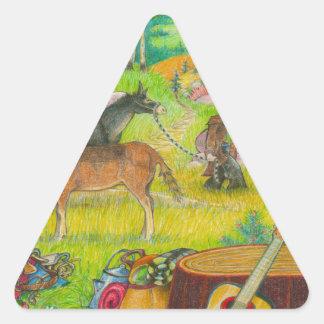 Adesivo Triangular Uma página PODEROSA 56 da ÁRVORE