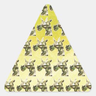Adesivo Triangular Unicórnio do jasmim
