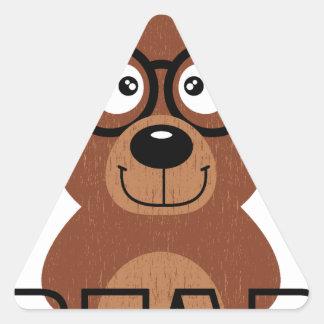 Adesivo Triangular Urso com vidros