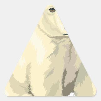 Adesivo Triangular Urso polar peluches