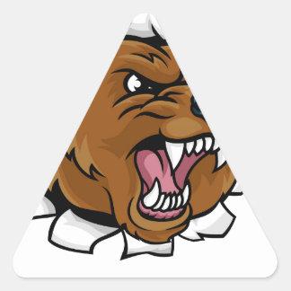 Adesivo Triangular Urso que guardara a bola de boliche que quebra o