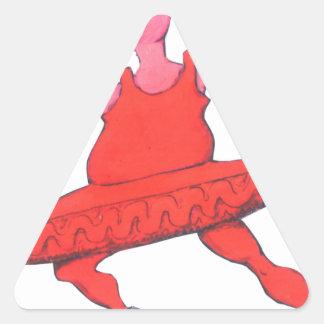 Adesivo Triangular Vaca da bailarina