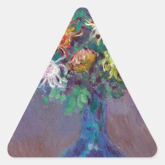 Adesivo Triangular Vaso dos crisântemos Claude Monet