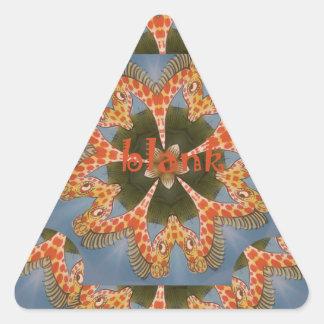 Adesivo Triangular Vazio colorido africano surpreendente bonito do